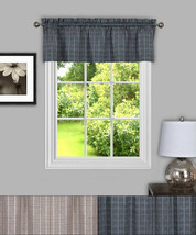 "Sydney Plaid Decorative Kitchen Window Curtain 14"" Valance - $12.99"