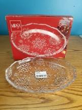 Mikasa Crystal Snowflake Sweet Dish Oval Platter 9 Inches  - $14.80