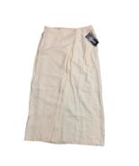 Ilyza Women's A-Line Wrap Midi Skirt Button Closure Cream Size 14 NWT - $23.76