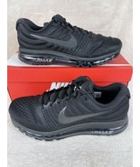Nike Air Max 2017 Triple Black Running Shoes Mens 12.5 849559-004 Sneakers - $207.87