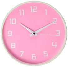 Girls Room Analog Wall Mounted Pink Wall Clock Very Quiet Non-Ticking Si... - $47.10