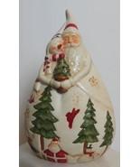 """Vintage St Nicholas Square Santa and Snowman Bisque Hand Painted 7"""" - $16.00"""
