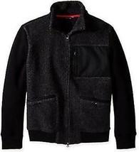 NWT Nautica Men's Mixed Media Track Jacket, True Black Size XXL - $58.81
