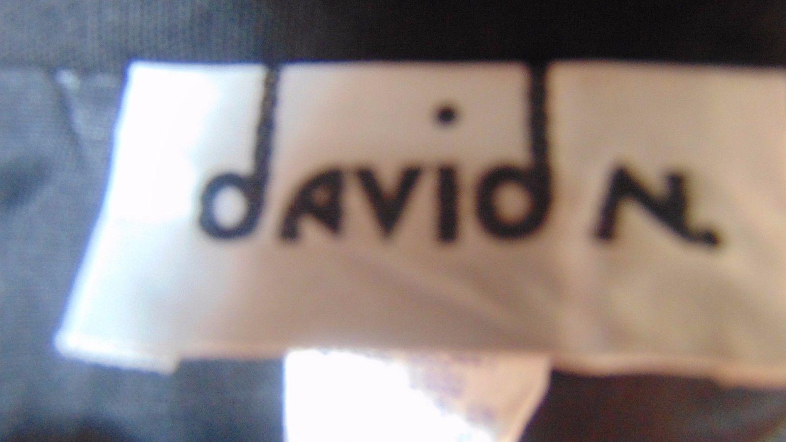 """Ladies David N.Lined Skirt Black Straight 13"""" Front Slit-Hidden Zip N Back-"""