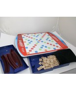 Scrabble Deluxe Edition Full Size Rotating Turntable Board & Folding Tra... - $39.99