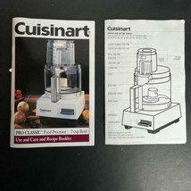 Cuisinart Pro Classic Food Processor Model 10S 49 pages 7 Cup MANUAL ONLY - $14.84
