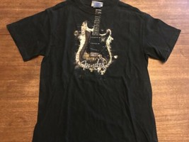 Fender T-shirt Silver Gold Small Excellent Condition Official - $5.69