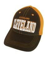 Cleveland Solid Front Air Mesh Back Adjustable Baseball Cap (Brown/Orange) - $12.95