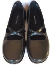 Naturalizer Kero Black Leather Womens Shoes 8M Medium Straps Low Heel Ca... - $46.00