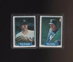 1982 Fleer Yankees Rich Gossage Ron Guidry #37 #38 - $1.00