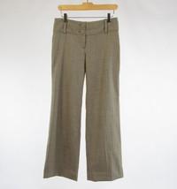 Gray silver herringbone wool blend ANN TAYLOR straight leg dress pants 0 - $18.74