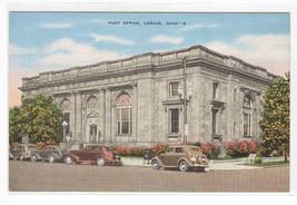 Post Office Lorain Ohio linen postcard - $5.94