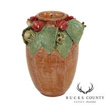 Vintage Decorative Floral Pottery Vase - $195.00