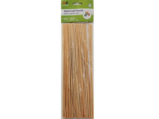 """Multicraft Wood Craft Dowels, 10"""", 85 Pieces #CW554"""