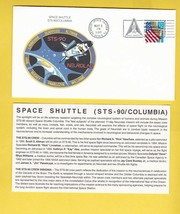 STS-90 COLUMBIA KENNEDY SPACE CENTER FLORIDA MAY 3 1998 WITH INSERT CARD - $1.78