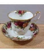Royal Albert Old Country Roses Cup & Saucer Montrose Shape Bone China En... - $28.04