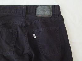 Boys Levis 505 Straight Black Denim Jeans Size 10 Reg Short! Brushed Cotton Warm image 7