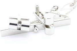 CUFFLINKS + CLAMP TIE - $28.12
