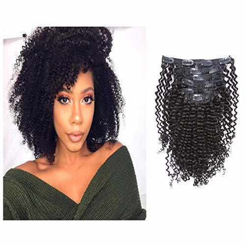 Loxxy Afro Kinky Curly Clip in Human Hair Extensions 3B 3C Kinky Clip ins For Bl
