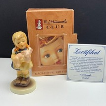 Goebel MJ Hummel club figurine germany box coa 1382 pigtails hum 2052 pi... - $54.45