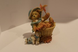 Cherished Teddies - Pat - Falling for You - 1995 Pinwheel Figurine - #141313 NB - $4.95