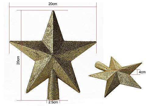 Primary image for 2 Colors Star Plastic Christmas Hanging Ornaments Party Xmas Home Decor 4 PCS Tk