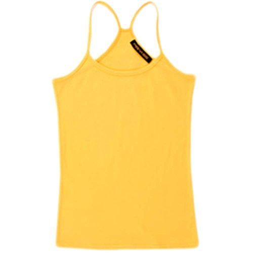 Super Soft Active Sports Shaping Tank Top Strappy Scoop Neck Camisoles Yellow