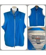 New PETER MILLAR Performance Warmth Fleece Vest Men's XL Turquoise Aqua ... - $79.00