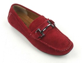 New Alfani Red Suede W Front Bit James Driver Loafer Shoes Size 7 - $29.69