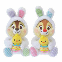 Disney Store Japan Easter Bunny Chip 'n Dale Plush New with Tags - £25.68 GBP