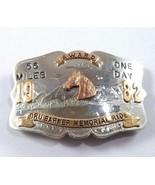 Comstock Silversmiths German Silver Belt Buckle Plate 1982 Dru Barner Me... - $197.95