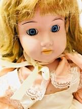 Vintage Brinn's Porcelain Cathy Doll Blonde Strawberry Hair Blue Eyes - $29.69