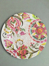 "Melamine Dinner Plates Pink Floral 6 pc set 11"" NEW  - $49.38"