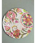 "Melamine Dinner Plates Pink Floral 6 pc set 11"" NEW  - $49.38"