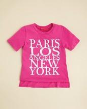 me.n.u. Girls' Cities Tee, Pink, Size 4/5, MSRP $52 - $21.77