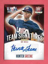 2014 Hunter Greene Panini USA Baseball Rookie Auto 148/299 - Cincinnati Reds - $47.49