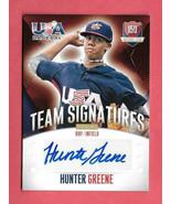 2014 Hunter Greene Panini USA Baseball Rookie Auto 148/299 - Cincinnati ... - $47.49