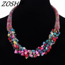 ZOSHI 2018 Trendy Fashion Women's Multilayer Chunky Necklace Bohemia Sty... - $15.00