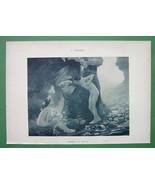 NUDE Mythology Love Daphnis & Chloe - 1902 Lichtdruck Print - $8.44