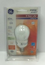 Ge Lighting 1 Decorative Ceiling Fan Cfl Bulb 11W, Free Shipping - $5.74