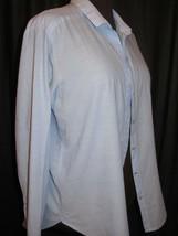 Women's H & M Long Sleeve Blue button up Shirt with Collar - $5.05