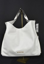 NWT! Michael Kors Devon Large Calf Leather Satchel/Shoulder Tote in Optic White - $279.00