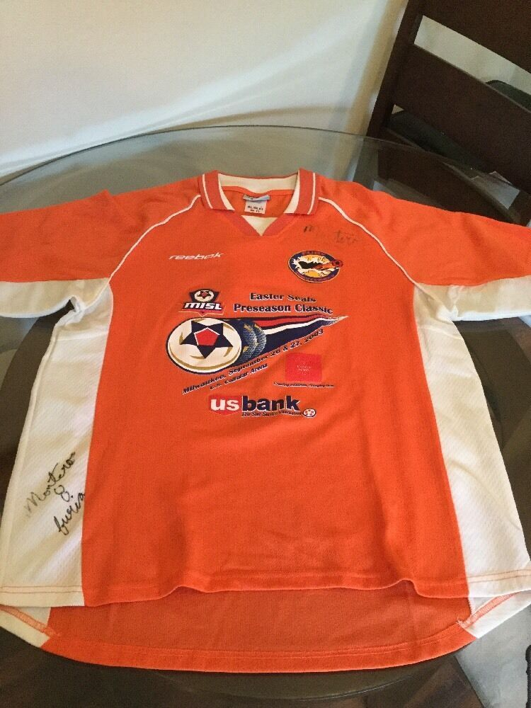 Primary image for Vintage Monterrey Fury 2003 Easter Seals Classic Game Worn Jersey #8 NPSL