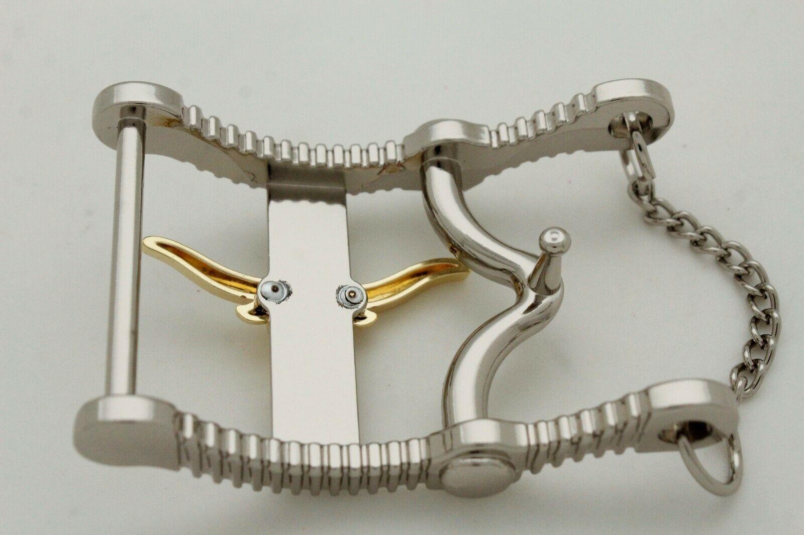 Herren Freizeit Western Cowboy Gürtelschnalle Silber Metall Lang Horn Kuh Gold image 9