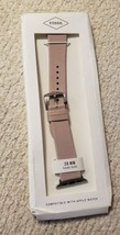 Fossil - Leather Watch Strap for Apple Watch 38mm- Blush - $16.79