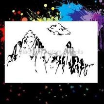 "NEW! 15""x12"" Stencil Rocky Mountains Design  Airbrush Stencil,Template - $14.01"