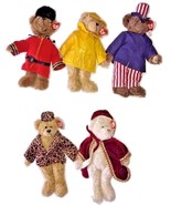 "Lot Of 5 TY Attic Buddy Bear Gordon Gem Samuel Isabella Teddy Bear Plush 12"" EUC - $99.99"