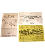 LOT of 3 1901 Antique PHILADELPHIA PA Billhead Document Receipts SOAP WOOL - $11.99