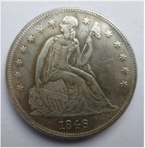 1846 SEATED LIBERTY SILVER DOLLARS High Quality - $5.00