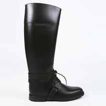 Givenchy Rubber Knee High Combat Boots SZ 39 - $205.00